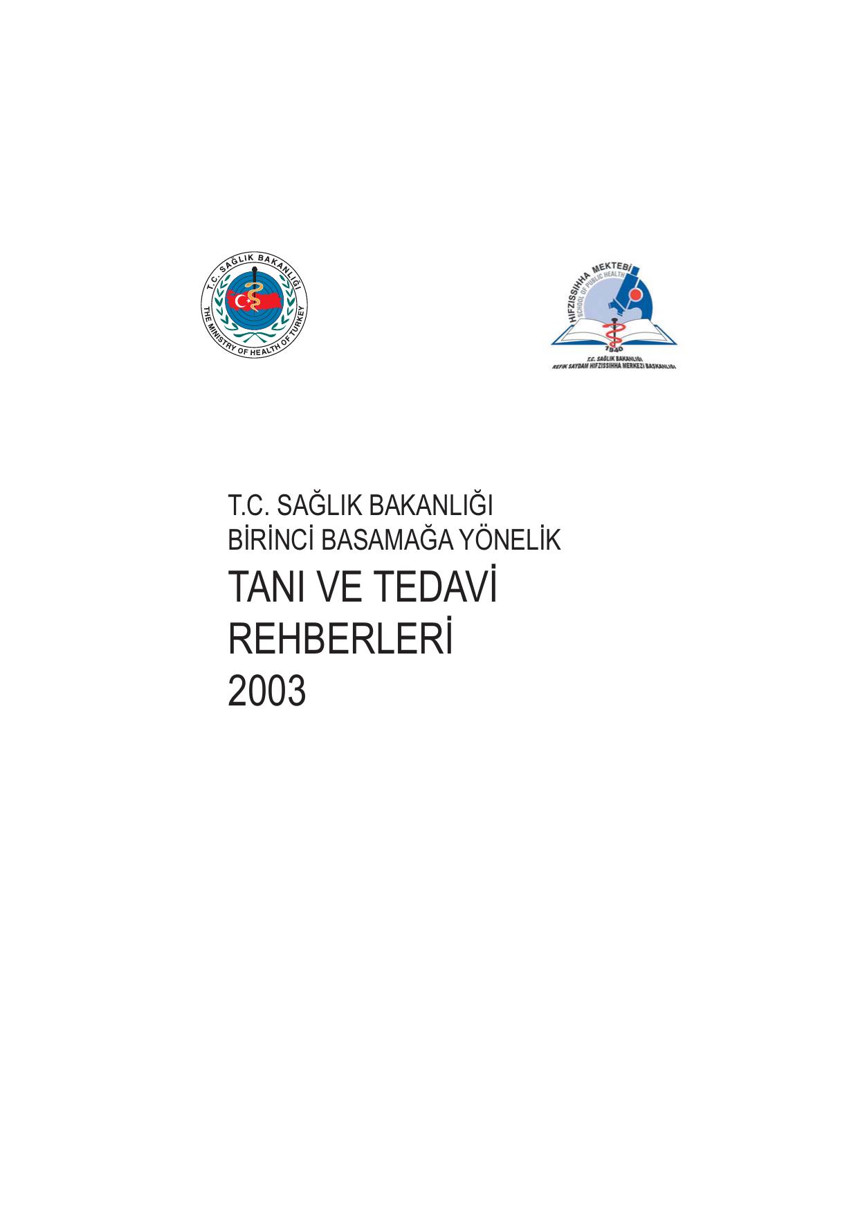 Tani Ve Tedavi Rehberleri 2003