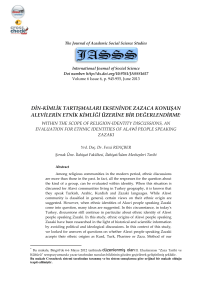 Tam Metin  - The Journal of Academic Social Science Studies