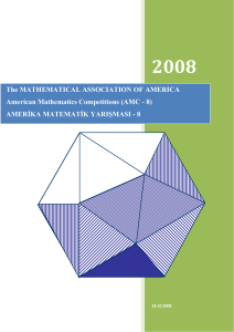 The MATHEMATICAL ASSOCIATION OF