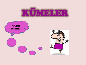 kümeler - WordPress.com