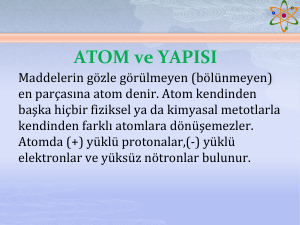 ATOM ve YAPISI - WordPress.com