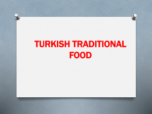 turkısh food