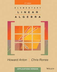 howard anton chris rorres elementary linear algebra applications version 11th edition