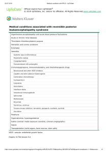 Medical conditions with RPLS - UpToDate