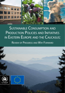 sustainable consumption and production policies and initiatives in eastern europe and the caucasus