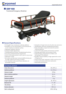 Functional-Emergency-Stretcher erp-1100
