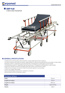 Operation Room Transfer Stretcher erp-1140