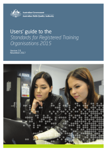 users guide to the standards for registered training organisations rtos 2015 v2