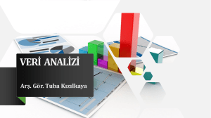 9)İstatistiksel Analizler 17 04 2019